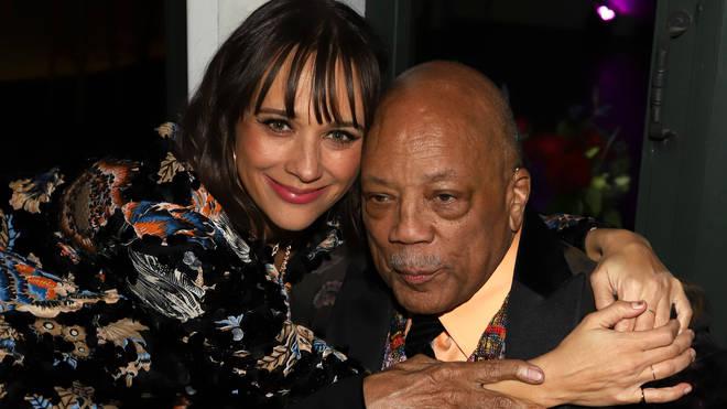 Quincy Jones with daughter Rashida Jones