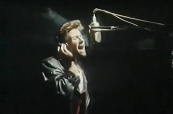 'Waiting for That Day' became the second single from the singer's album Listen Without Prejudice Vol. 1. Pictured, George Michael recording the song's lyrics in 1990.