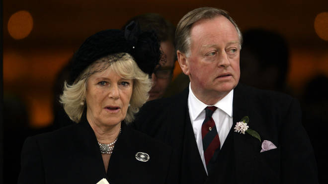 Camilla with ex-husband Andrew Parker Bowles in 2010