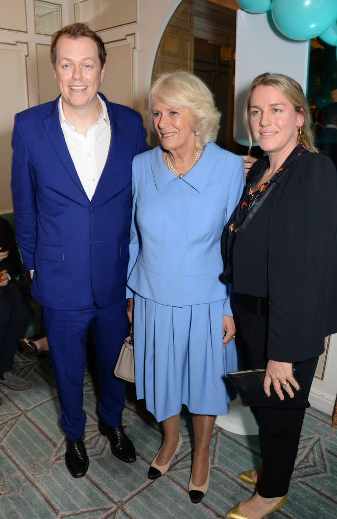 Camilla with children Tom and Laura