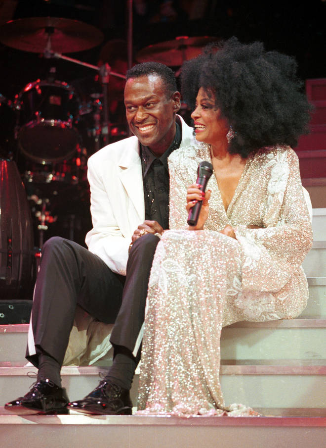 Luther Vandross was great friends with other recording artists including Diana Ross. Pictured, the pair performing together at New York's Madison Square Garden in 2000.