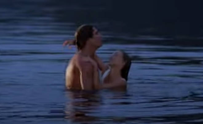 "Clips include an outtake from the duo&squot;s famous &squot;lift&squot; scene in water, where Patrick can be heard telling Jennifer she&squot;s ""heavy when she&squot;s wet!"""