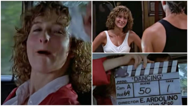 The footage shows Patrick Swayze (Johnny Castle) and Jennifer Grey (Baby Houseman) as the duo made mistakes and mess around while filming Dirty Dancing..