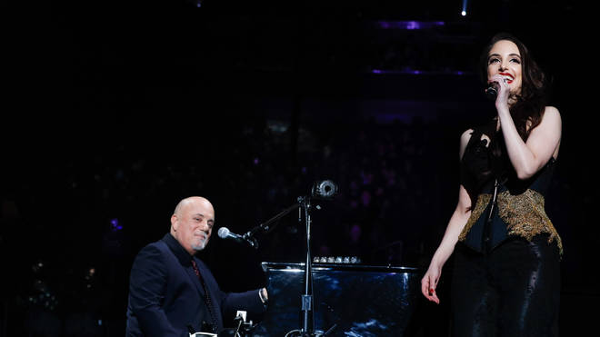 Billy Joel performs with his daughter Alexa Ray in 2018