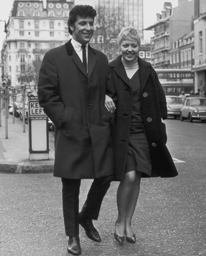 "Tom Jones discusses life with his wife Linda (pictured together in 1965): ""When I took the song &squot;It's Not Unusual&squot; [his first number one] back to Wales to play it to her, she said, &squot;That sounds like a hit to me.&squot;"""