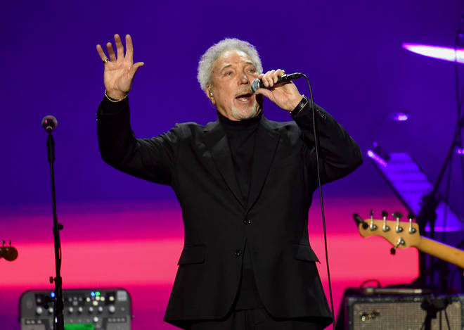 """I knew I was put on this Earth for this purpose,"" say Sir Tom Jones. ""I think God gave me this voice. And when you get a gift like this, you should see it through."" Pictured performing at the o2 in 2020."