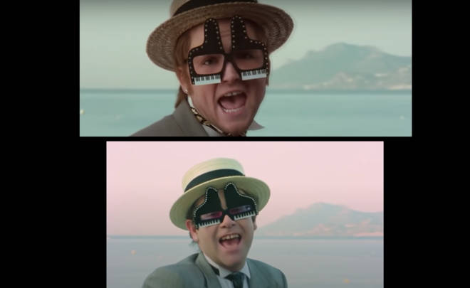 A new side-by-side comparison of both Elton John 'I'm Still Standing' videos show just how accurate the 2019 re-enactment really was