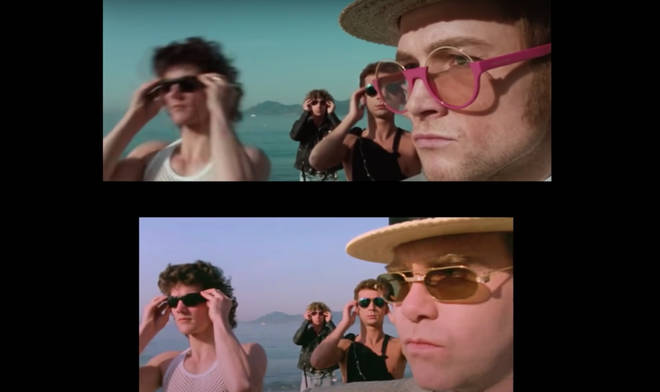 Originally shot on location in Cannes in 1983, videographers went into the Elton John archives to find the original 16mm film negatives.