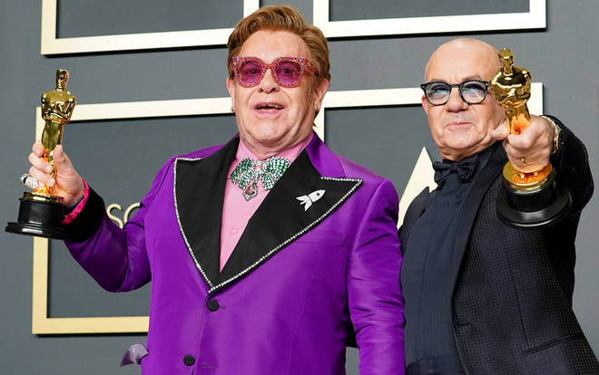 Sir Elton John and songwriter Bernie Taupin won the Oscar for 'Best Song' for 'I'm Gonna Love Me Again' from the Rocketman soundtrack (pictured).