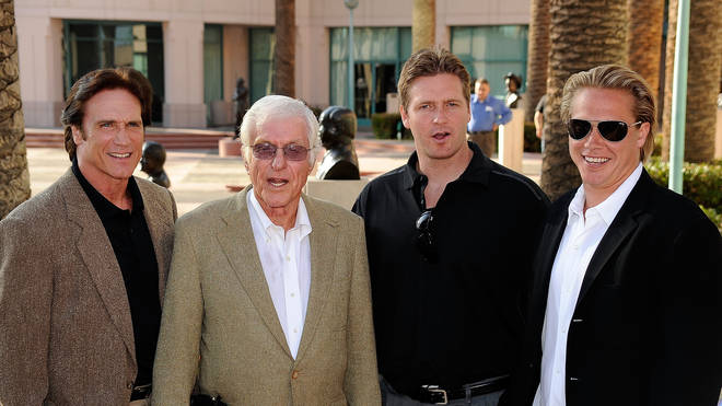 Dick Van Dyke with sons Barry and Shane and grandson Carey