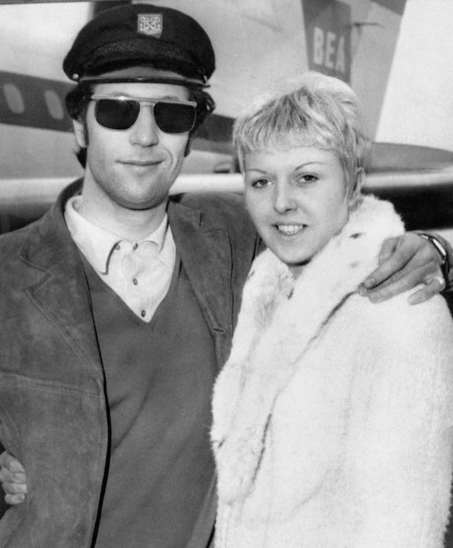 Sir Tom Jones and his wife Linda Trenchard were married for 59 years. Pictured in France in 1965.