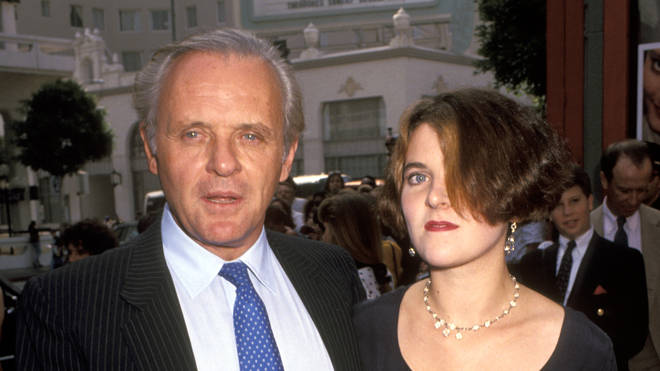 Anthony Hopkins and Abigail Hopkins in the 1990s
