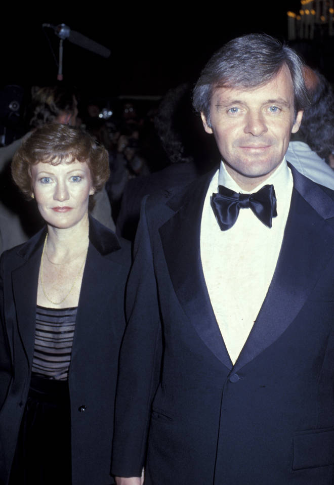 Anthony Hopkins with second wife Jennifer Lynton in 1979