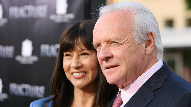 Anthony Hopkins with wife Stella Arroyave