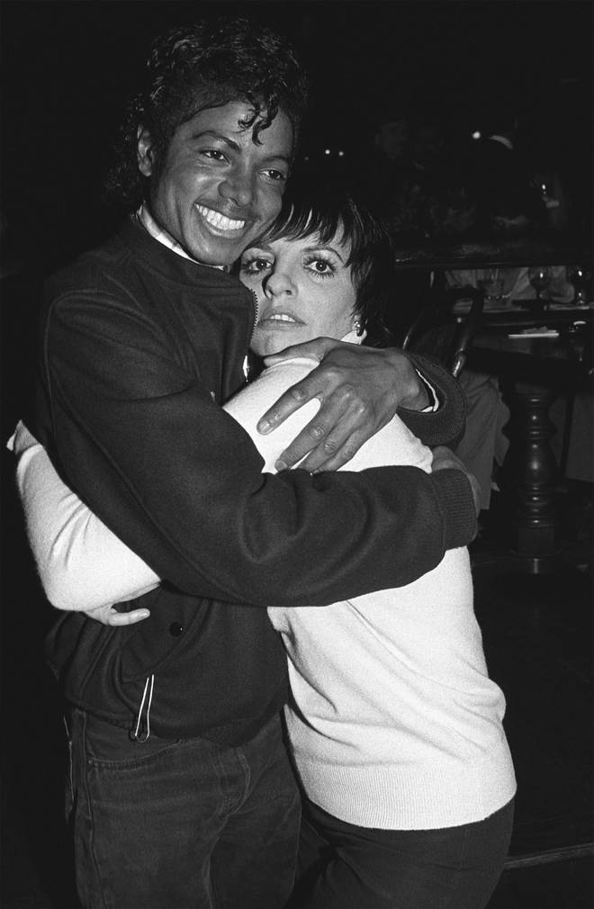 Michael Jackson and Liza Minnelli at a David Geffen party at the Universal City Studios circa 1982 in Los Angeles, California.