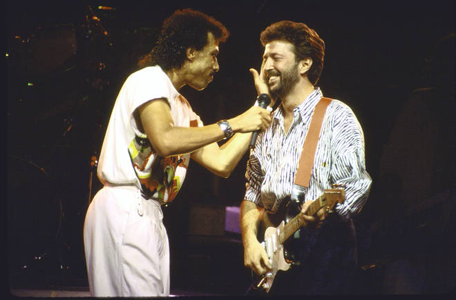 Eric Clapton appeared as a special guest at Lionel Jr. Richie's concert at Wembley Arena, London  on May 27, 1987.