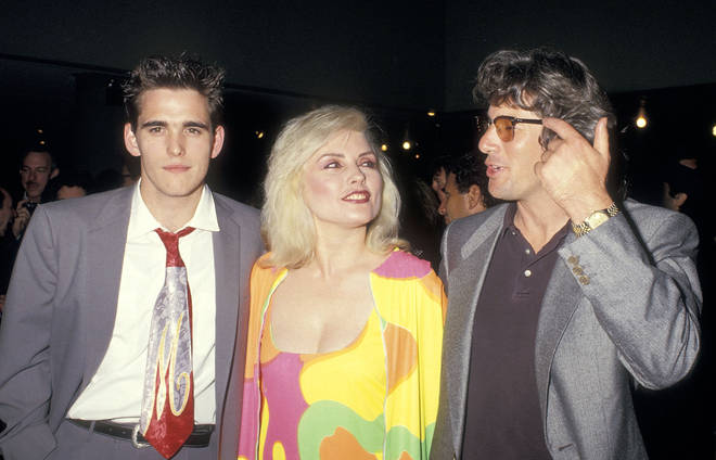 """Matt Dillon, musician Debbie Harry of Blondie and actor Richard Gere attend the """"Art Against AIDS"""" Cocktail Party and Auction to Benefit AIDS Research on June 4, 1987 at Sotheby&squot;s in New York City."""