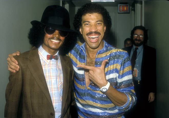 Michael Jackson and Lionel Richie at the Various in Los Angeles, California in circa 1980.