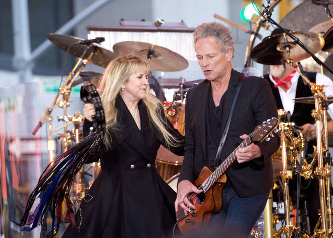 The interview comes after Mick recently revealed he reconciled with Lindsey Buckingham after he was fired by the band in 2018. Buckingham pictured right, on stage with Stevie Nicks in 2014.