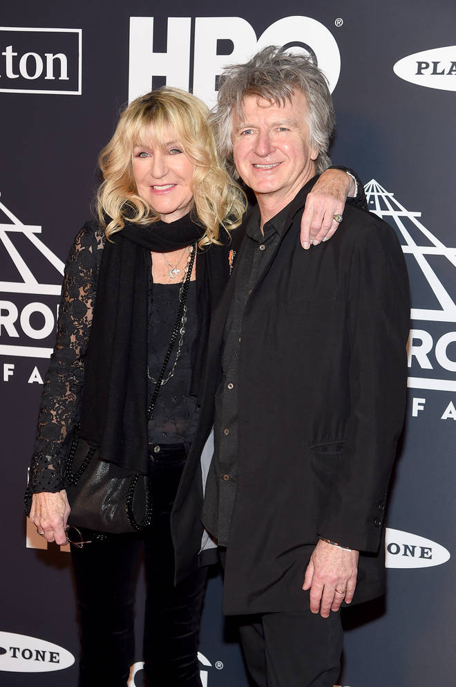 Christine McVie said Stevie Nicks and John McVie won't ever tour again. Pictured with newest Fleetwood Mac member, Crowded House's Neil Finn, at the Rock & Roll Hall Of Fame Induction Ceremony on March 29, 2019 in New York