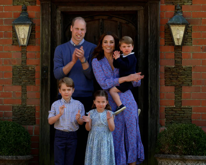 The Duke and Duchess of Cambridge have three children: (L to R) Prince George, 7; Princess Charlotte, 5; and Prince Louis, 3.