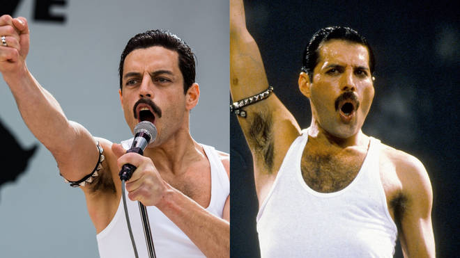 Rami Malek plays Freddie Mercury in Bohemian Rhapsody