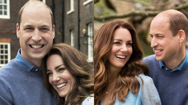 William and Kate marked their ten year anniversary by releasing photos of them embracing in the grounds of Kensington Palace, taken this week by photographer Chris Floyd.