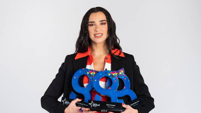 Dua Lipa wins three prizes at the 2021 Global Awards