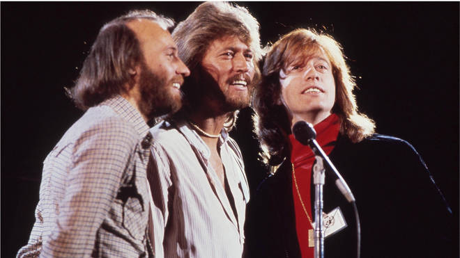 Robin Gibb with his famous Bee Gees brothers