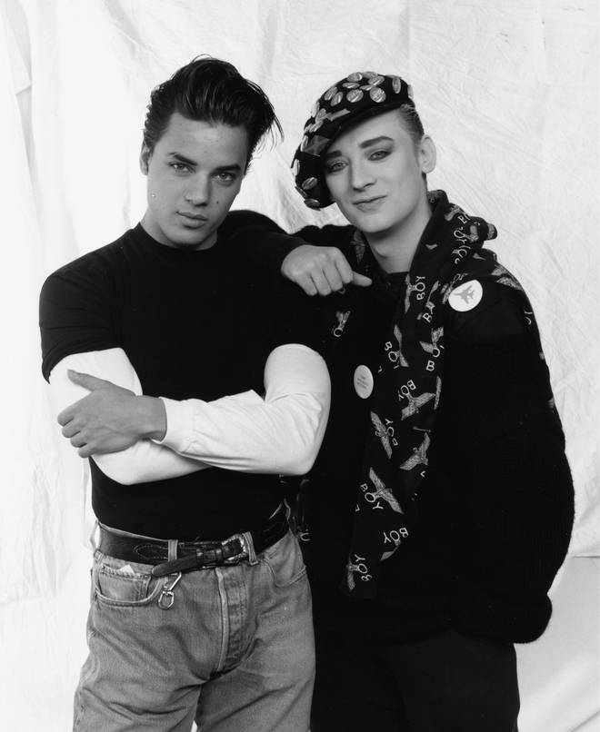 Nick Kamen's was close friends with Culture Club lead singer Boy George. The pair pictured in March, 1987.