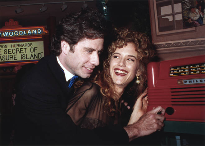 John Travolta and his wife kelly Preston had been married for 19-years after first meeting on the set of the movie The Experts in 1987. Pictured in 1991.