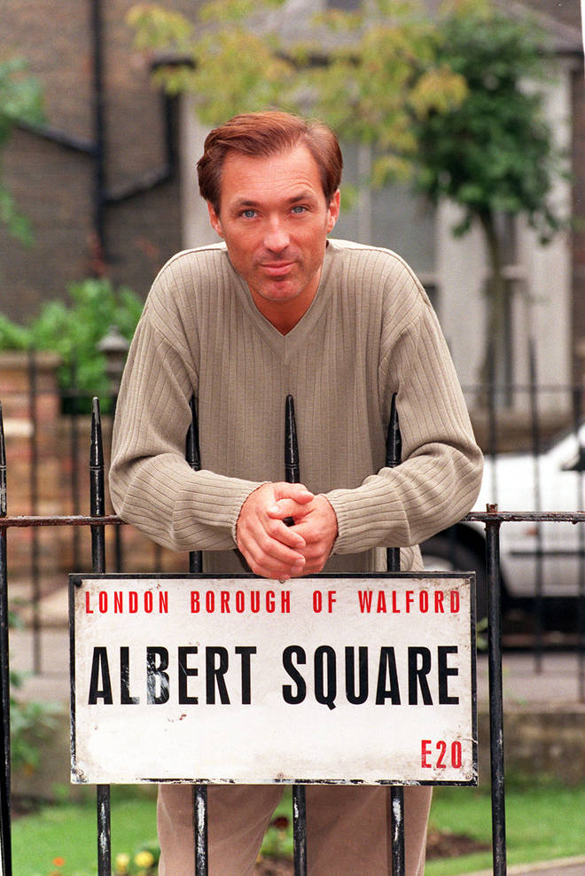 Martin Kemp says George Michael landed him his famous role of soap opera EastEnders. Pictured on set in 1998.