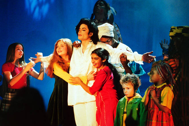 """""""I was just sat there and watching it and feeling a bit ill, 'cause he's there doing his Jesus act,"""" said Jarvis Cocker of Michael Jackson's performance at the 1996 Brit Awards (pictured)"""