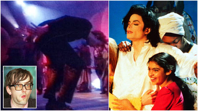 Frontman of Pulp Jarvis Cocker (inset) crashed the stage while Michael Jackson was performing 'Earth Song' at the 1996 Brit Awards in London.