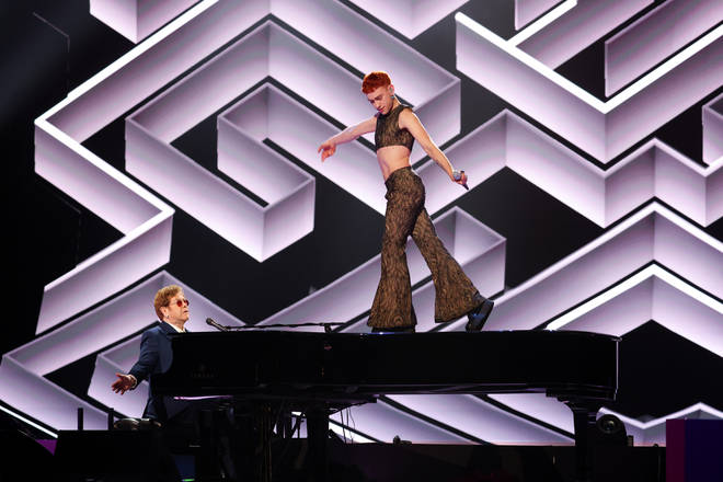 Elton John was accompanied by Years And Years frontman Olly Alexander for a breathtaking rendition of the Pet Shop Boys' 1987 hit.