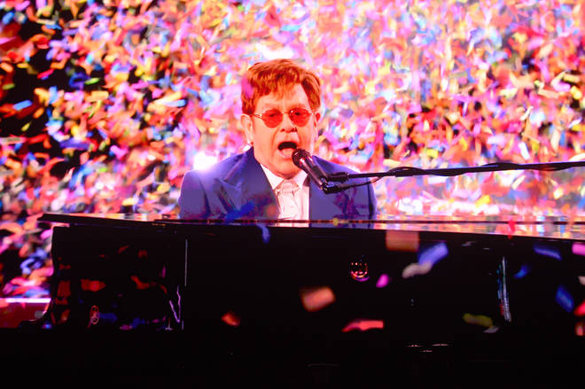 Elton and Olly's performance was inspired by the Russell T. Davies TV series It's a Sin.