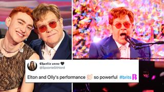 Brit Awards 2021: Elton John joins Olly Alexander for sensational Pet Shop Boys' 'It's A Sin' cover