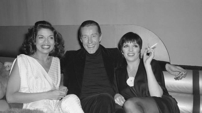 Liza Minnelli, Bianca Jagger, and Halston at Studio 54