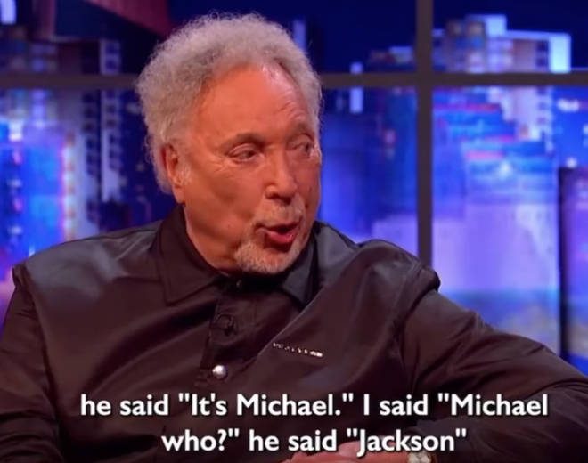 Tom Jones revealed Michael Jackson showed up at his house when he moved into a new Los Angeles neighbourhood.