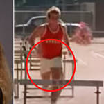 One eagle-eyed fan has spotted a very – shall we say 'ballsy' – wardrobe malfunction in one scene from Grease 2 that has seemingly slipped anyone's notice for almost 40 years (pictured right).