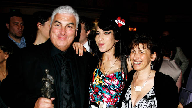 Amy Winehouse with her parents Mick and Janis