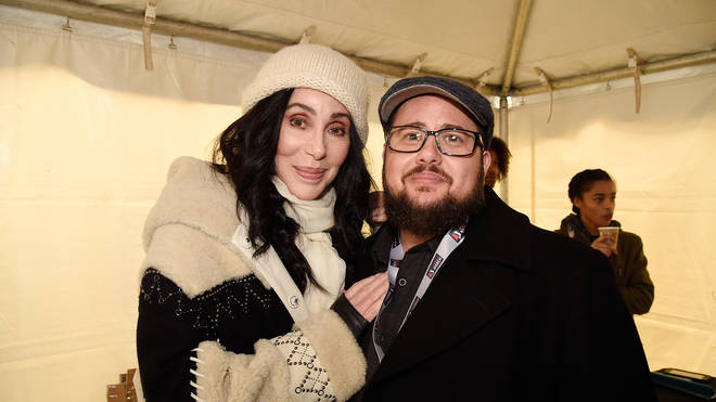 Cher with Chaz Bono in 2017