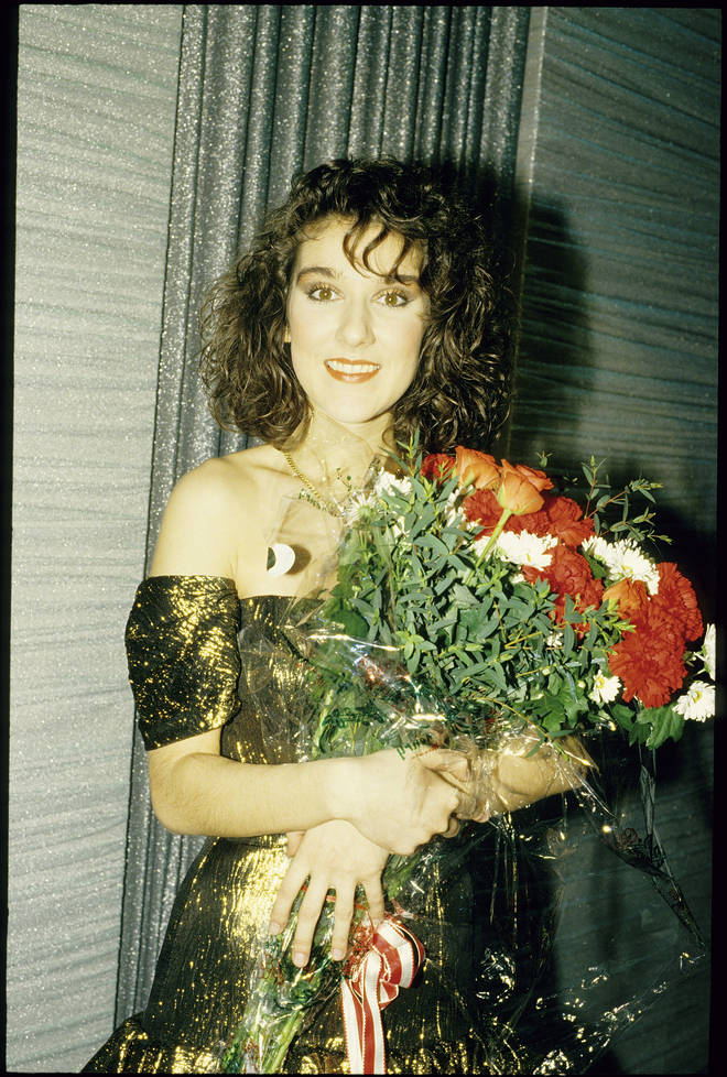 Celine Dion became an overnight star and went on to sell over 250 million records worldwide. Pictured at Eurovision in 1988.