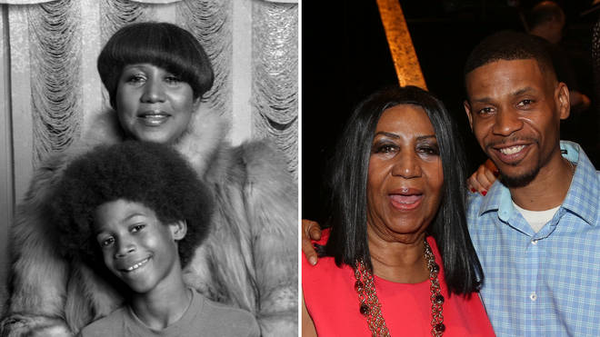 Aretha Franklin and her son Kecalf
