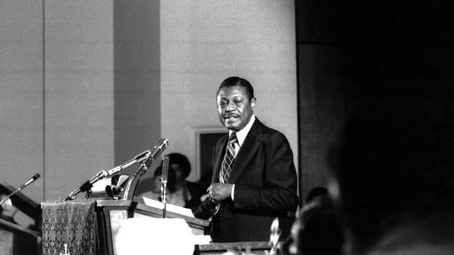 Reverend Franklin In Detroit in 1976