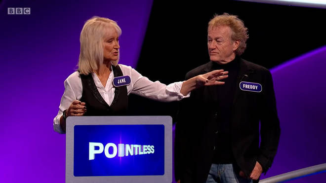 Freddy and Jane appearing on Pointless together