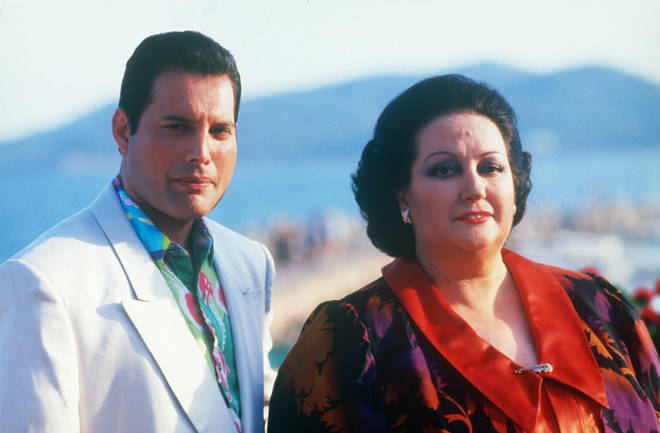 Freddie Mercury would often pinch himself that such a famous opera star wanted to work with him. Pictured with Monserrat Caballé in Ibiza in 1987.