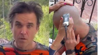 Robbie Williams is famous for his good looks and luscious head of hair but the singer's locks are no more after his wife took the clippers to them on Wednesday (June 2).