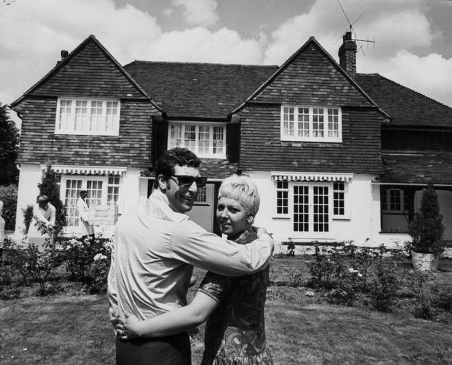 Sir Tom also shared that the pair had fallen in love when they were both just 12-years-old (pictured, outside their home in Wales in 1967)