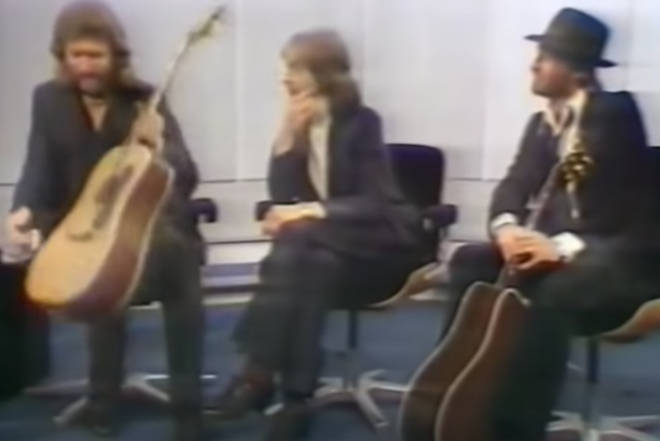 The Bee Gee brothers were guests on TV show 'Parkinson' in 1982 when they were asked to give an impromptu rendition of their 1967 hit 'Massachusetts'.